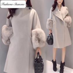 Fashione Shanone - Manteau avec manches en fourrure