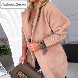 Fashione Shanone - Manteau beige en fourrure
