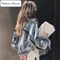Fashione Shanone - Veste en jean à franges