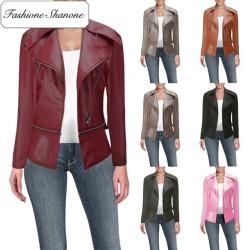 Fashione Shanone - Veste en cuir perfecto plusieurs coloris