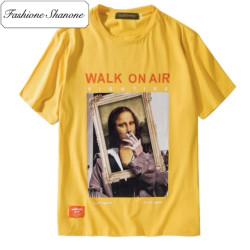 Fashione Shanone - T-shirt Mona Lisa fume