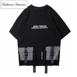 T-shirt poches réfléchissantes