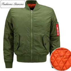 Fashione Shanone - Orange inside bomber