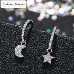 Fashione Shanone - Boucles d'oreille lune étoile