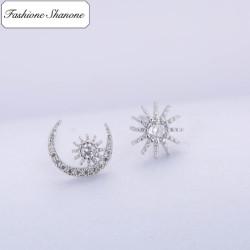 Fashione Shanone - Boucles d'oreilles lune soleil