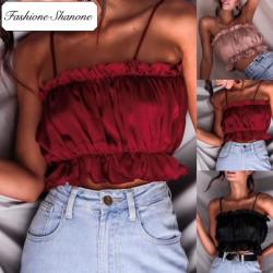 Fashione Shanone - Crop top à froufrou