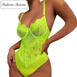 Fashione Shanone - Neon green bodysuit