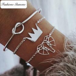 Fashione Shanone - Ensemble de 3 bracelets éléphant