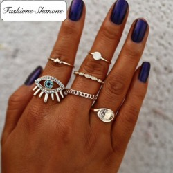 Fashione Shanone - Eye boho rings set