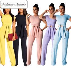 Fashione Shanone - Ensemble top et pantalon large
