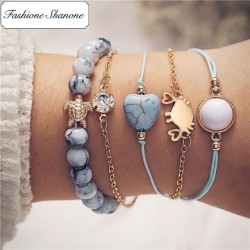 Fashione Shanone - Ensemble de 5 bracelets océan