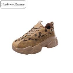 Fashione Shanone - Baskets avec morceaux léopard