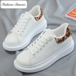 Fashione Shanone - Baskets blanches avec semelles épaisses