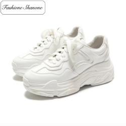 Fashione Shanone - Baskets blanches semelles épaisses