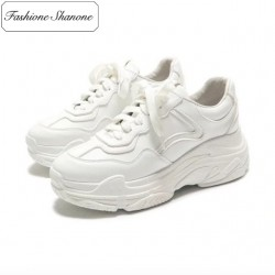 Fashione Shanone - White thick soles sneakers