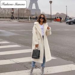 Fashione Shanone - Manteau long teddy bear