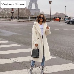 Fashione Shanone - Teddy bear long coat