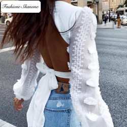 Fashione Shanone - Blouse avec dos ouvert