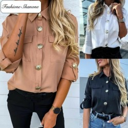 Fashione Shanone - Fluid shirt with large buttons