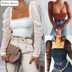 Fashione Shanone - Puff sleeves blouse