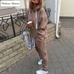 Fashione Shanone - Ensemble de jogging beige