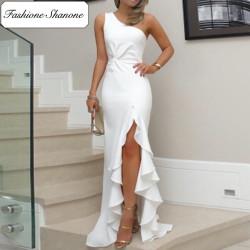 Fashione Shanone - Robe fendue à froufrou