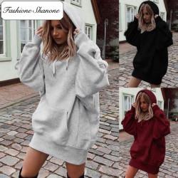 Fashione Shanone - Robe sweat à capuche