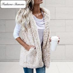 Fashione Shanone - Veste fluffy sans manche