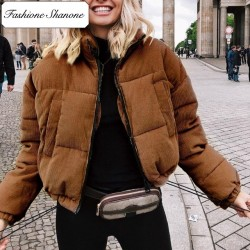Fashione Shanone - Ribbed down coat