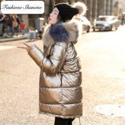 Fashione Shanone - Longue doudoune métallisée