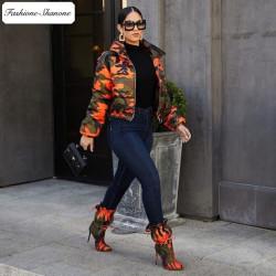 Fashione Shanone - Military down coat