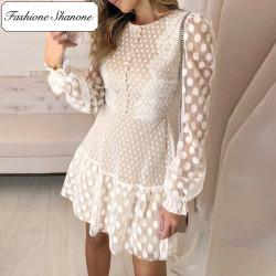 Fashione Shanone - Robe en dentelle à pois