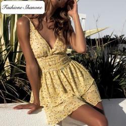 Fashione Shanone - Robe jaune fleurie