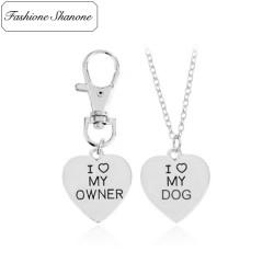 Collier et médaillon pour chien