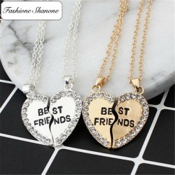 Fashione Shanone - Heart necklace best friends