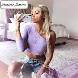 Fashione Shanone - Top violet une seule manche