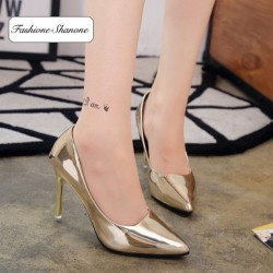 Fashione Shanone - Escarpins dorés avec semelles rouges