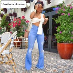 Fashione Shanone - Jean destroy évasé