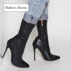 Fashione Shanone - Black croco boots