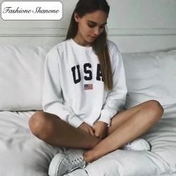Fashione Shanone - Sweat blanc USA