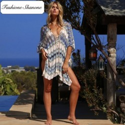 Fashione Shanone - Tunique de plage bleue