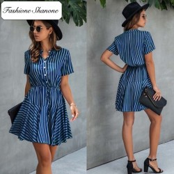 Fashione Shanone - Robe rayée manches courtes