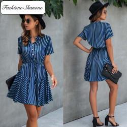Fashione Shanone - Short sleeves stripped dress