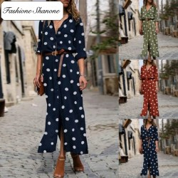 Fashione Shanone - Polka dot maxi dress