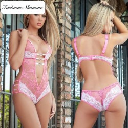Fashione Shanone - Lace bodysuit with small hearts