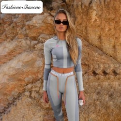 Fashione Shanone - Legging and long sleeves t-shirt fitness set
