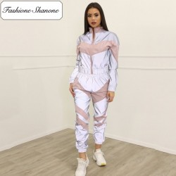 Fashione Shanone - Pink and reflective jogging set