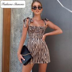 Fashione Shanone - Robe zébrée