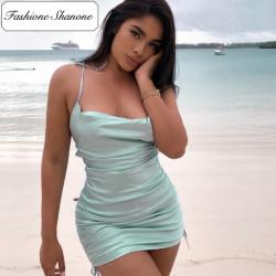 Fashione Shanone - Robe en satin verte