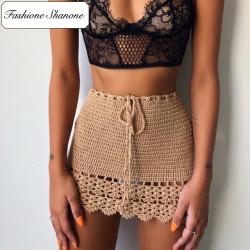 Fashione Shanone - Mini jupe en crochet